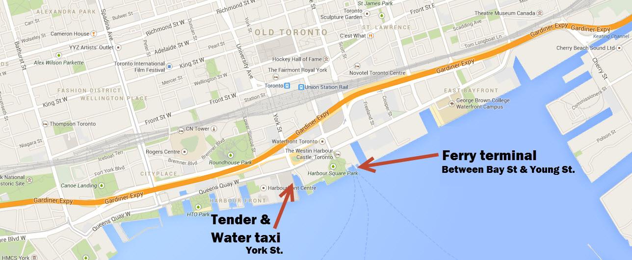 Toronto Island Map - Toronto on us map